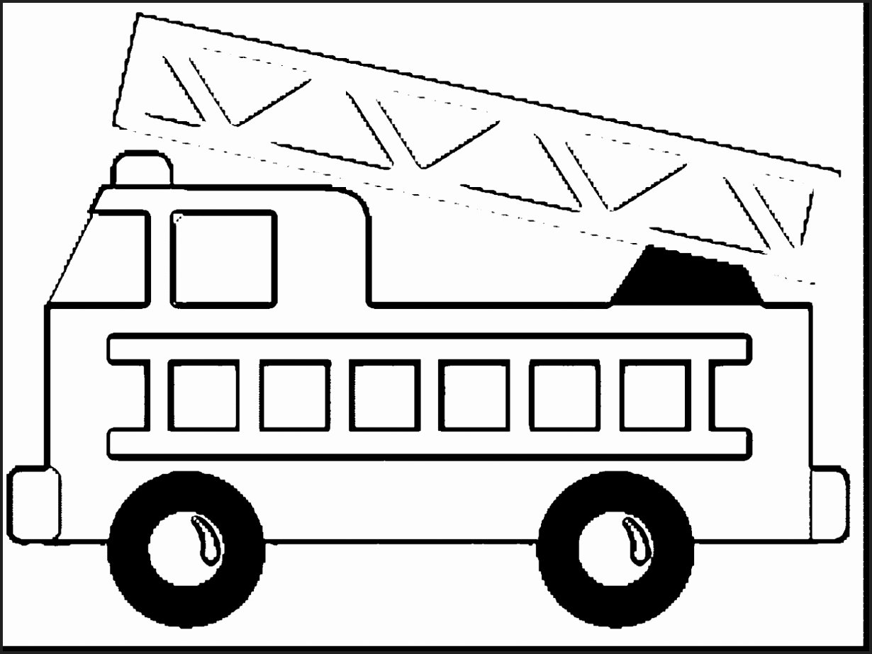 Fire Truck Printable Coloring Pages