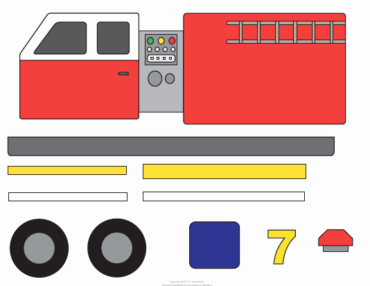 Fire Truck Template Templates Collections