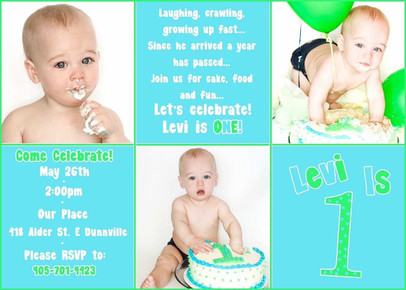 First Birthday Invitation Free Template
