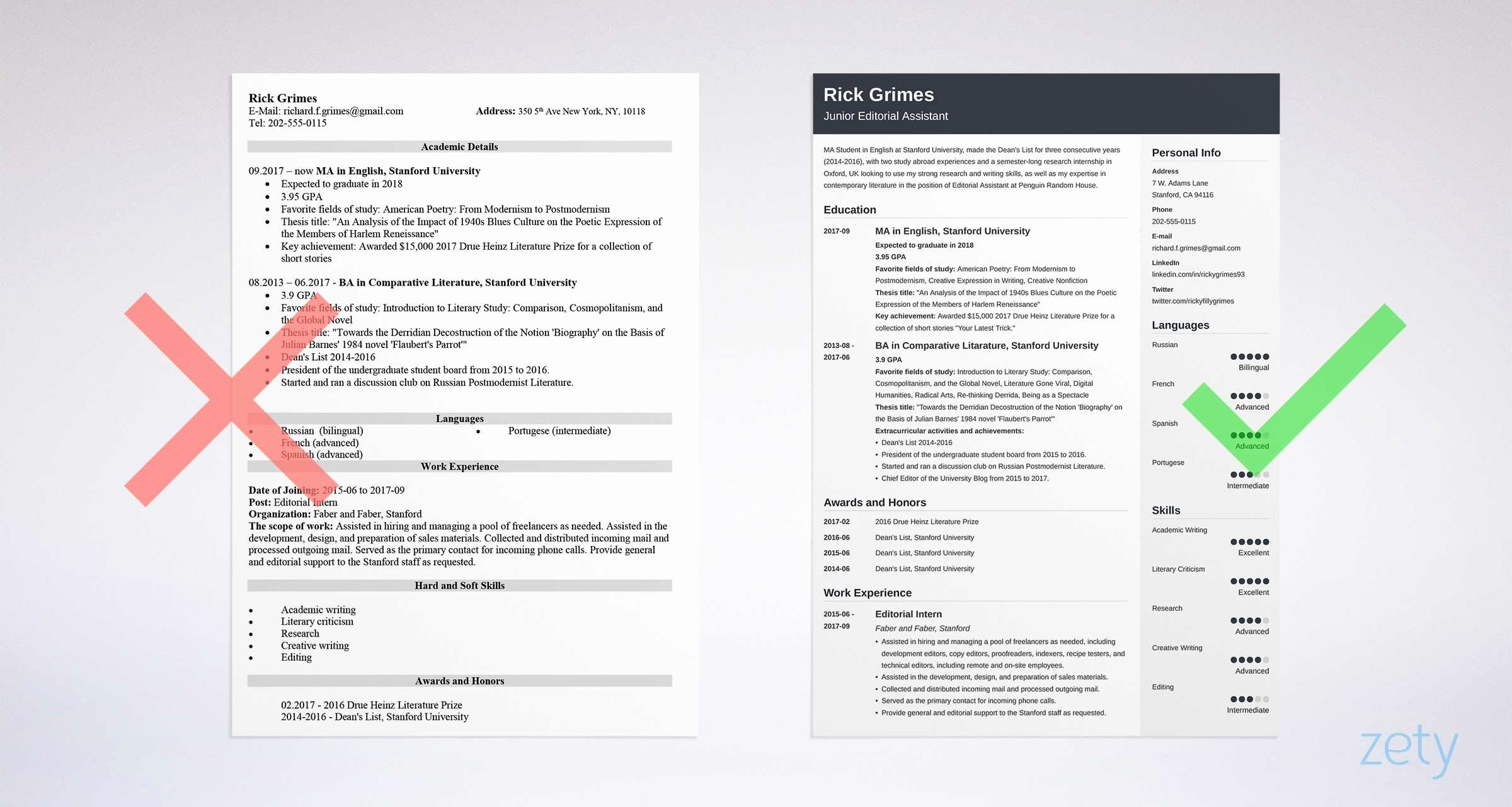 First Resume with No Work Experience Samples A Step by