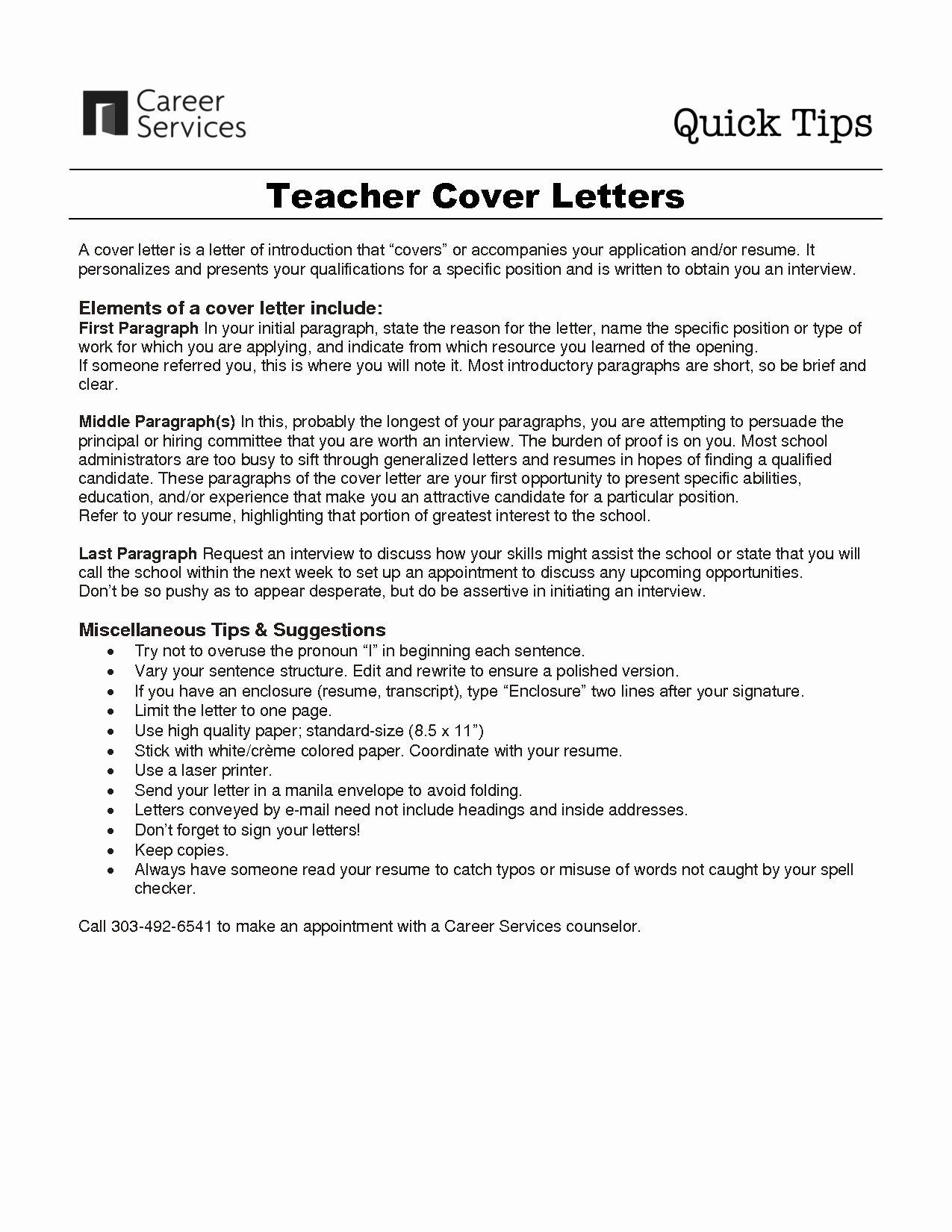 First Time Teacher Cover Letter