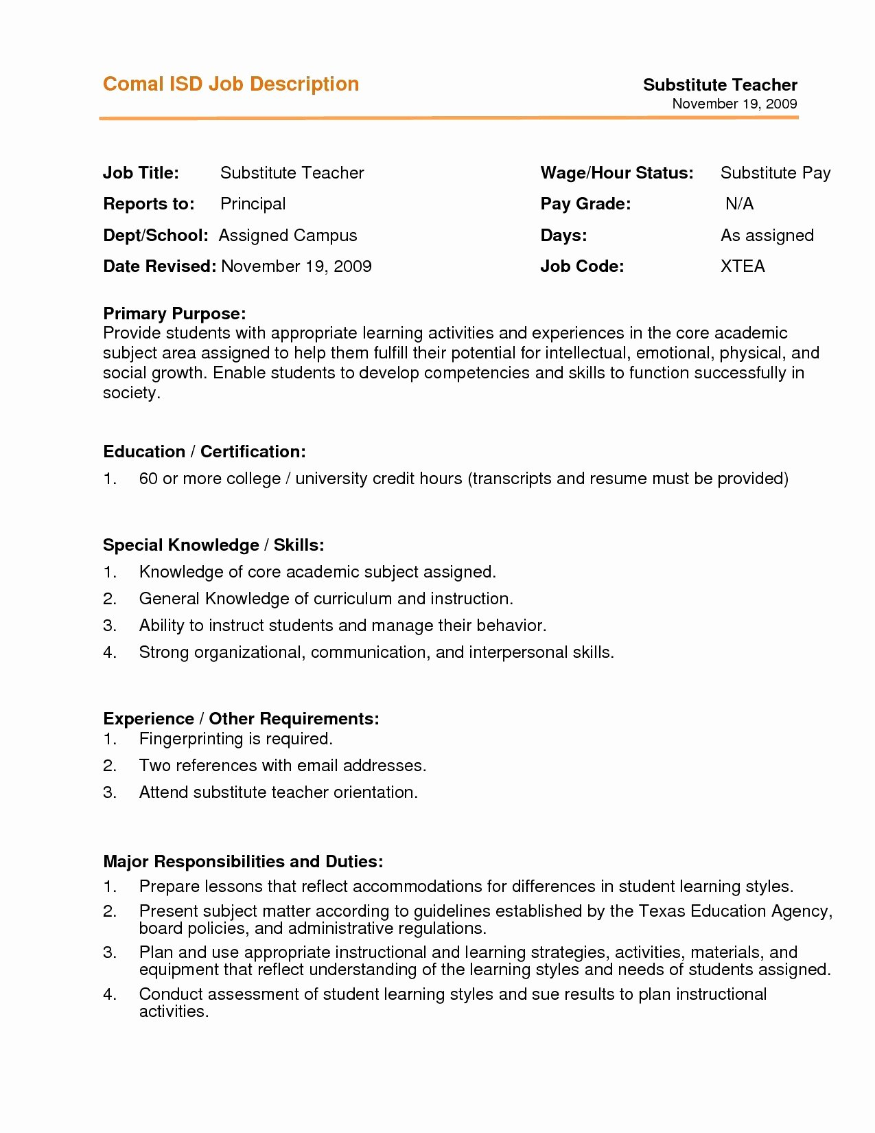 First Time Teacher Resume Lovely Teaching assistant Resume