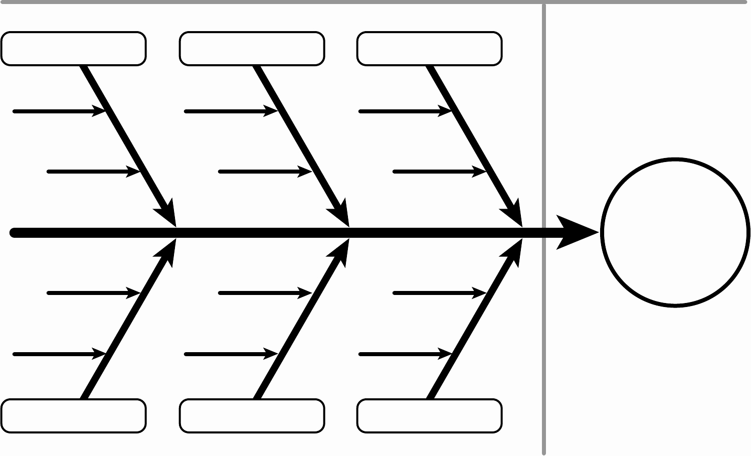 Fishbone Diagram Blank Template Clipart Best