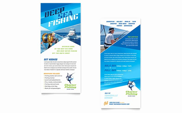 Fishing Charter & Guide Rack Card Template Word & Publisher