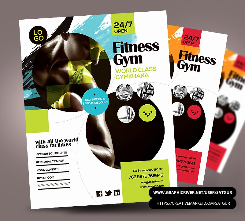 Fitness Flyer Gym Flyer PSD Template
