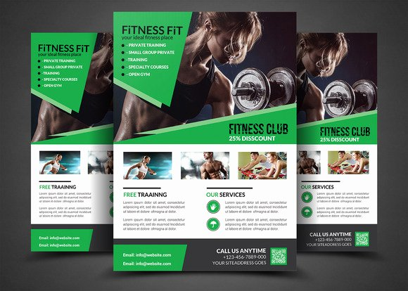 Fitness Flyer Gym Flyer Templates Flyer Templates On