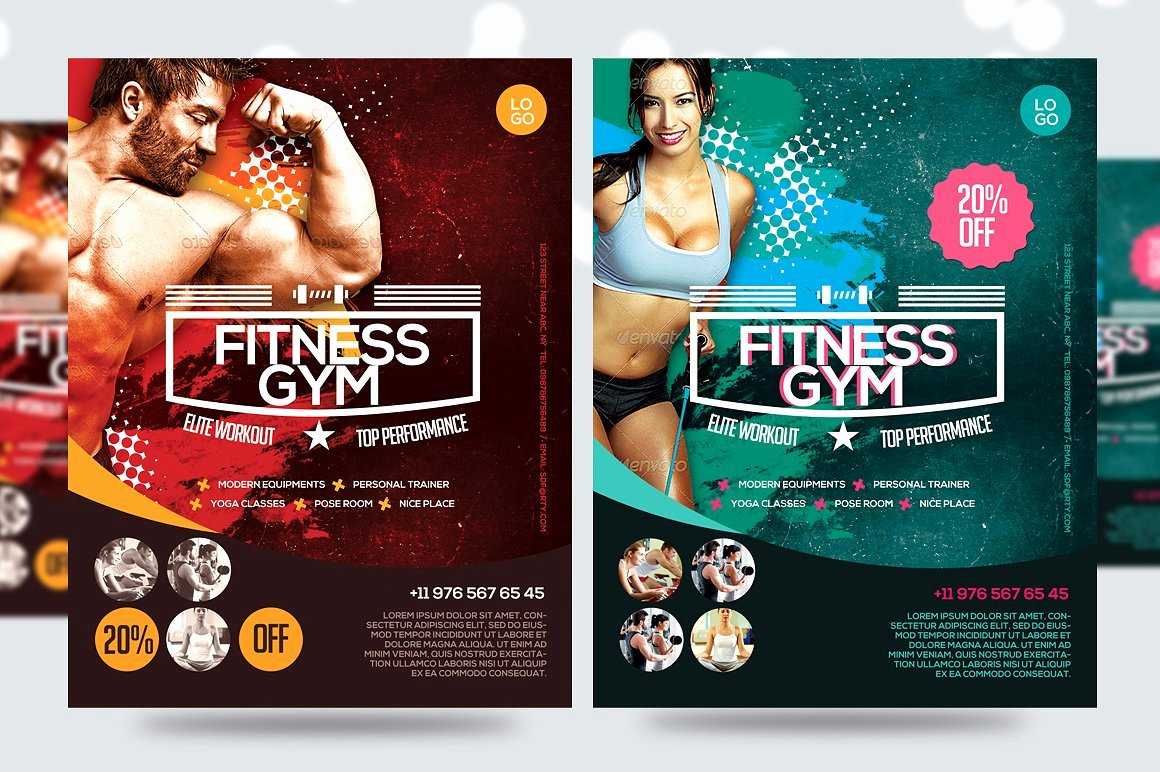 Fitness Flyer Gym Flyer V7 Flyer Templates Creative