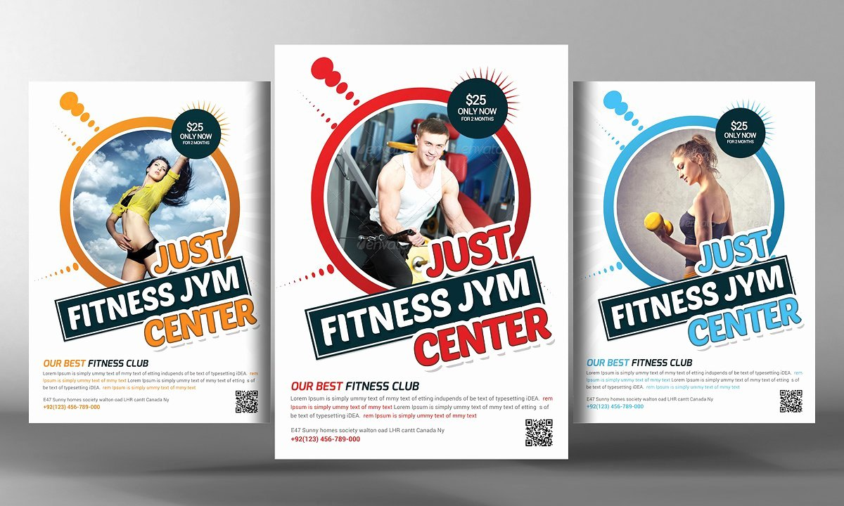 Fitness Flyer Template Flyer Templates Creative Market