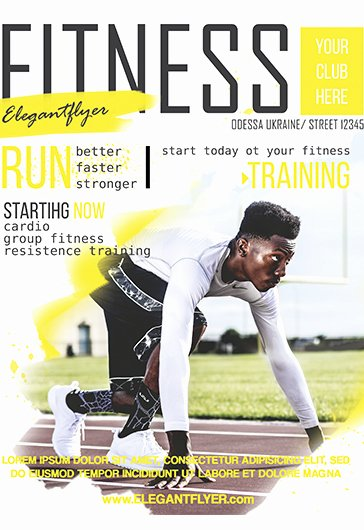 Fitness for Men Poster – by Elegantflyer