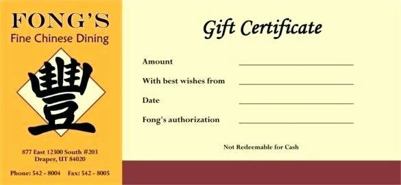 Fitness Gift Certificate Template Free Personal Training