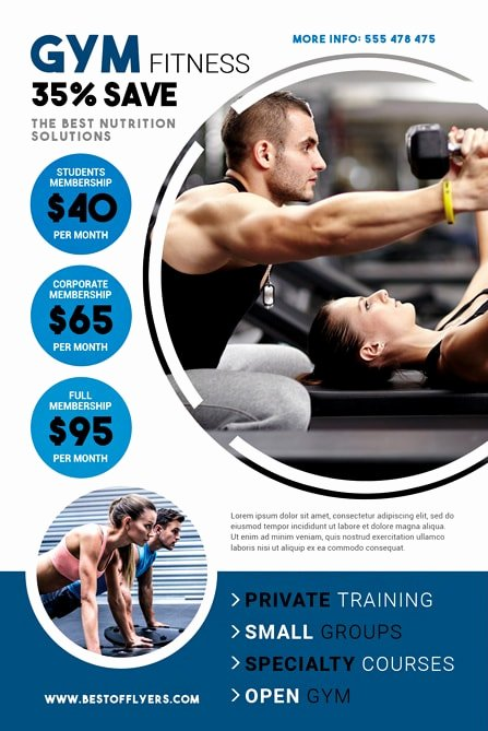 Fitness Gym Free Flyer Template