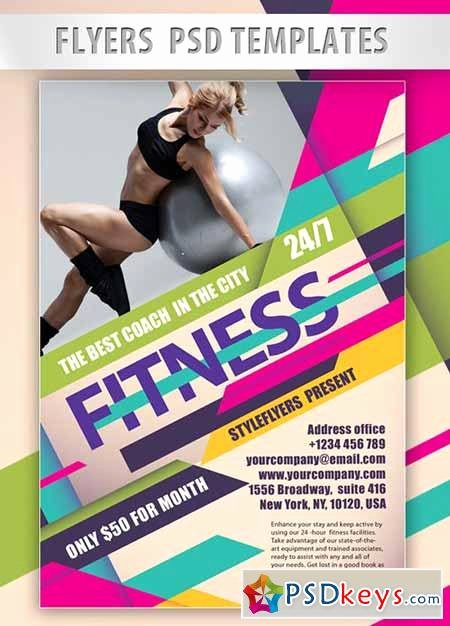 Fitness Psd Flyer Psd Template Cover Free