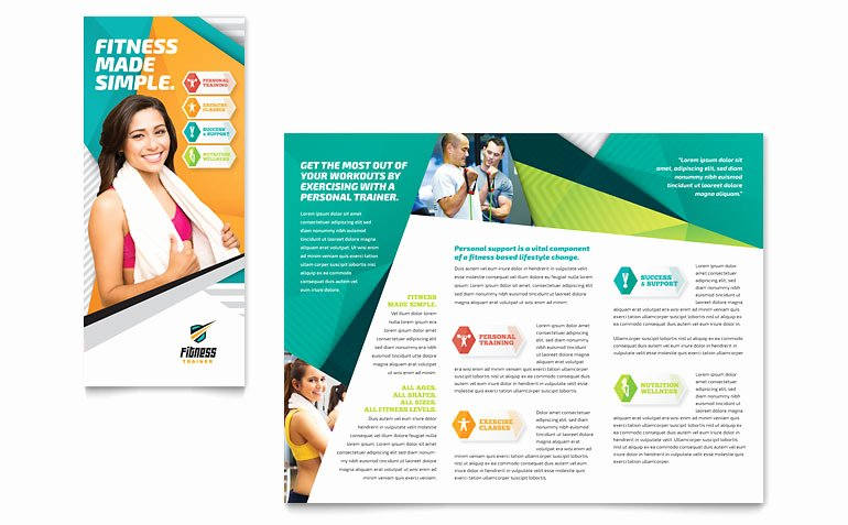 Fitness Trainer Brochure Template Word & Publisher