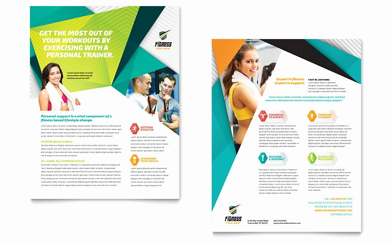Fitness Trainer Datasheet Template Word & Publisher