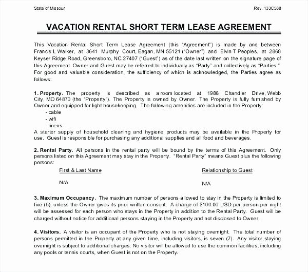 Fixed Term Lease Agreement Template Awesome Elegant Month
