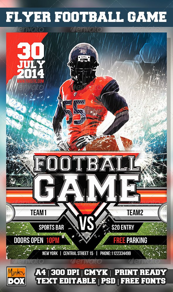 Flag Football Flyer Template Elmesky