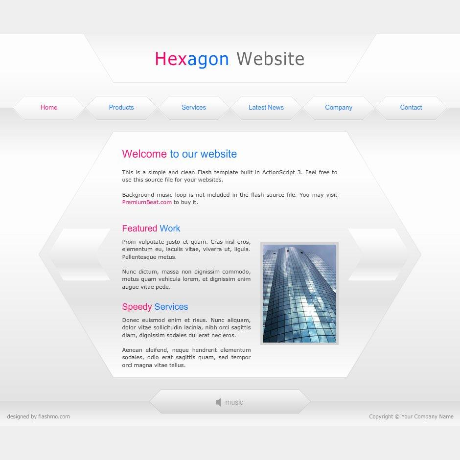 Flash Template 164 Hexagon