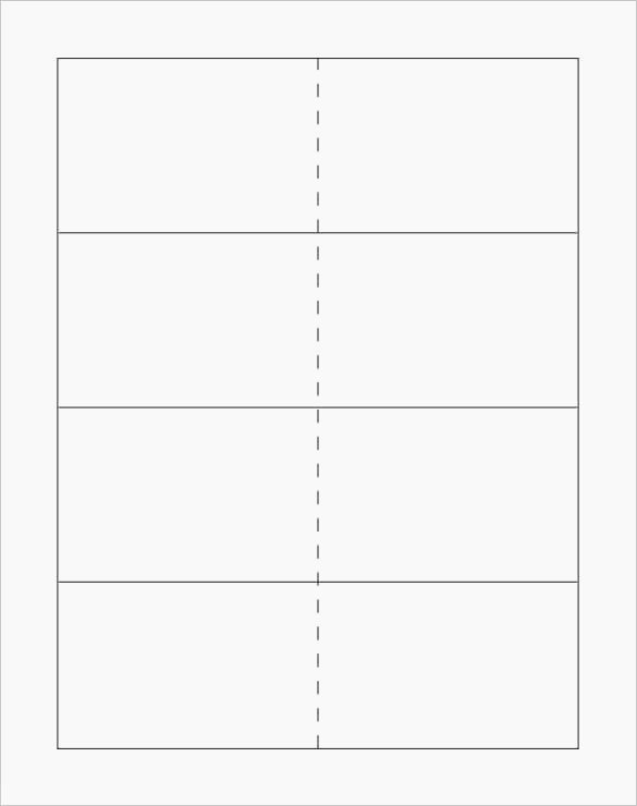 flashcard template free