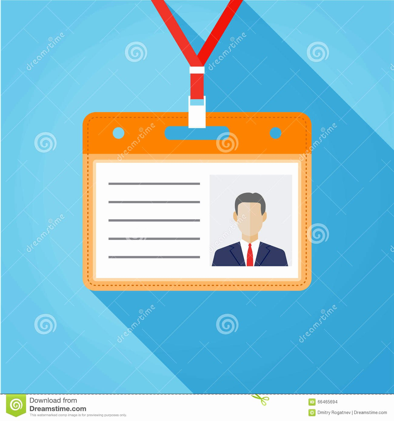 Flat Design Name Tag Badge Template Stock Vector Image