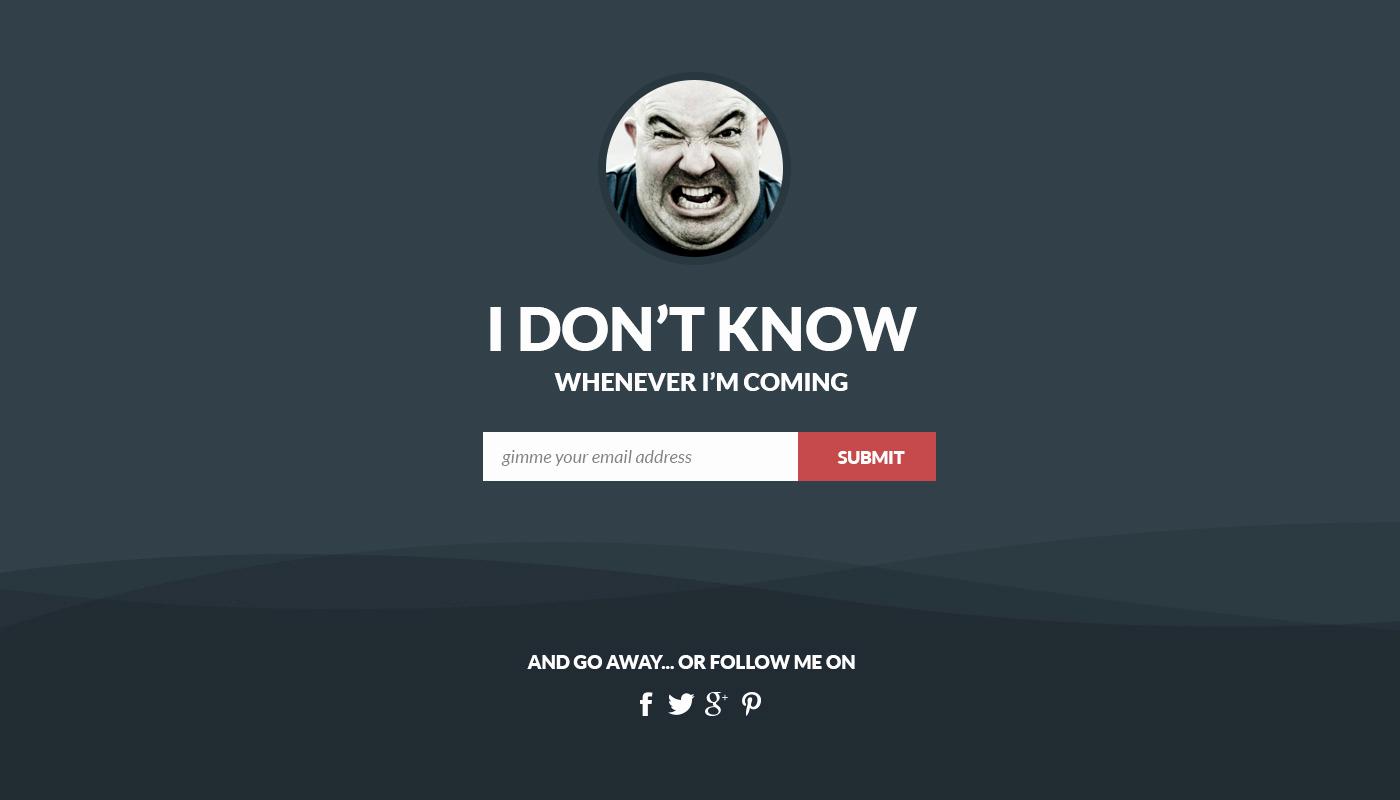 Flat Ing soon Landing Page Template Free Psd