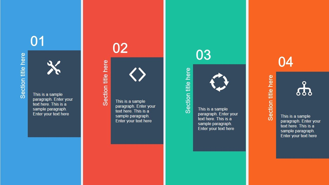 Flat Layout Template for Powerpoint Slidemodel