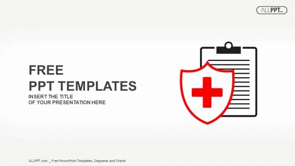 Flat Medical Icon Medical History On A White Background