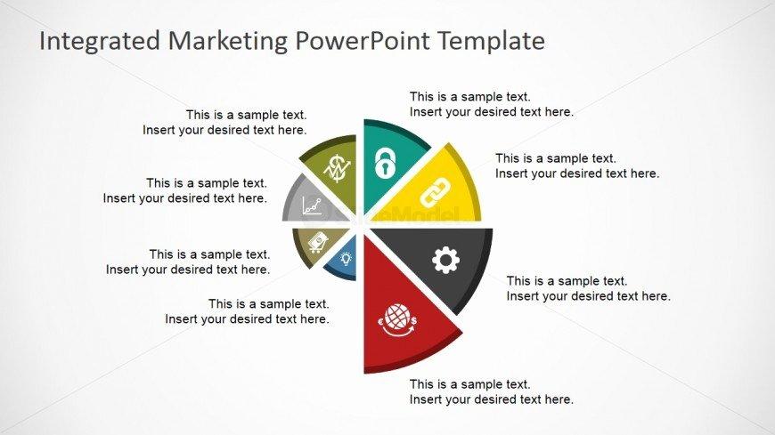 Flat Spyral Chart for Powerpoint Slidemodel