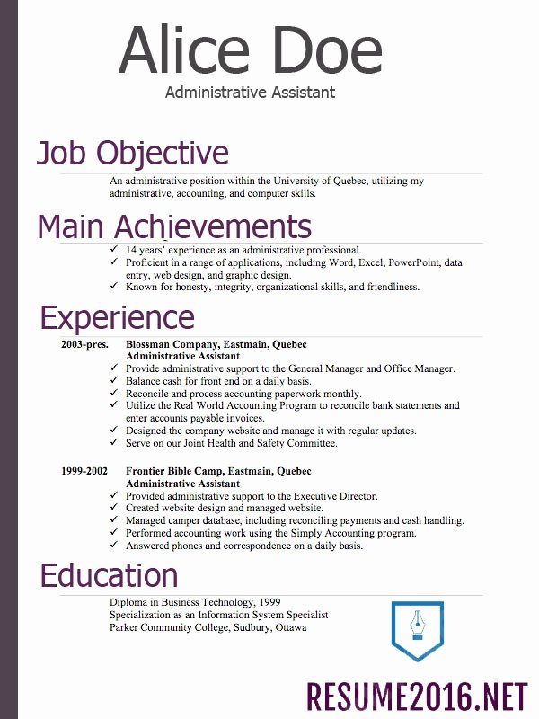 Flawless Resume Examples 2016 2017 Resume 2016