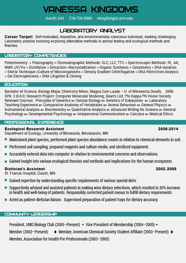 Flawless Resume Examples 2018