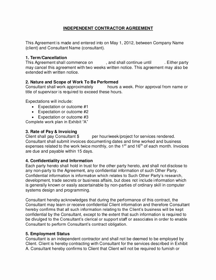 Flevy Sample Consulting Contract