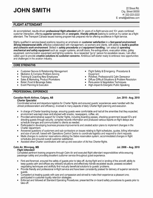 Flight attendant Resume Sample & Template
