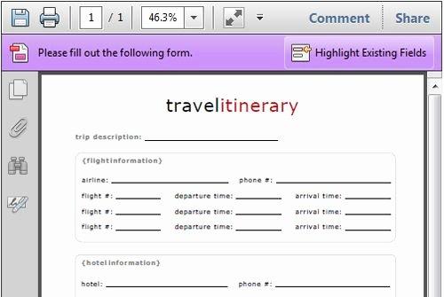 Flight Itinerary Template 8jzfli7c