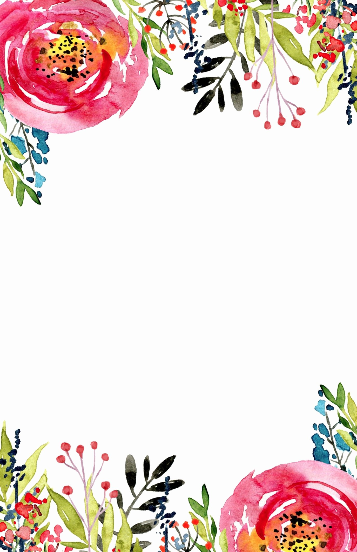 Floral Invitation Template Free Printable