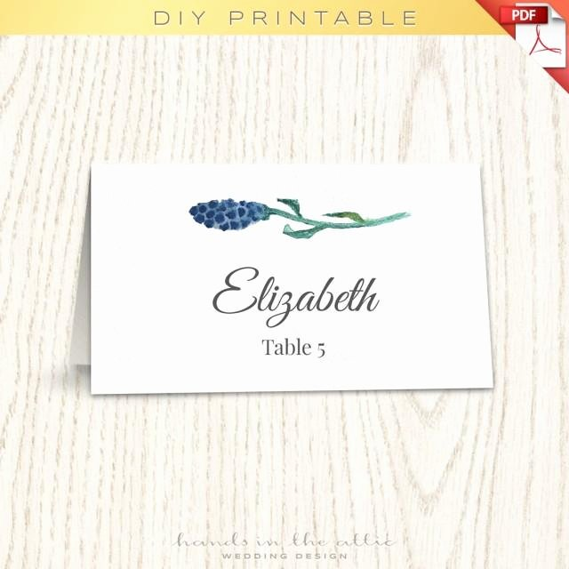 Floral Wedding Placecard Template Printable Escort Cards