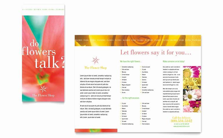 Florist Shop Brochure Template Word & Publisher