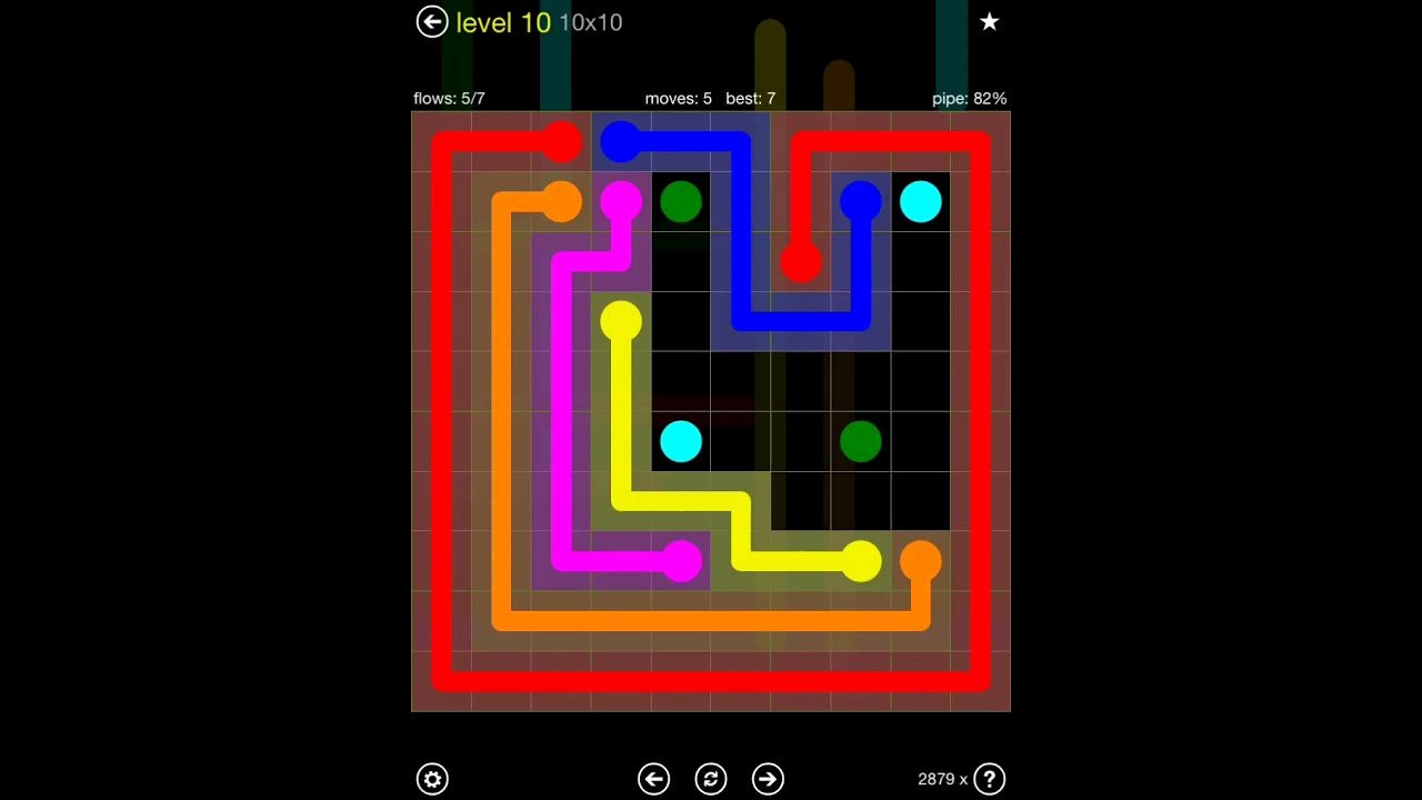 Flow Free Extreme Pack 2 10x10 Level 10