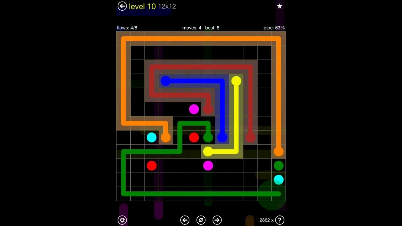 Flow Free Extreme Pack 2 12x12 Level 10