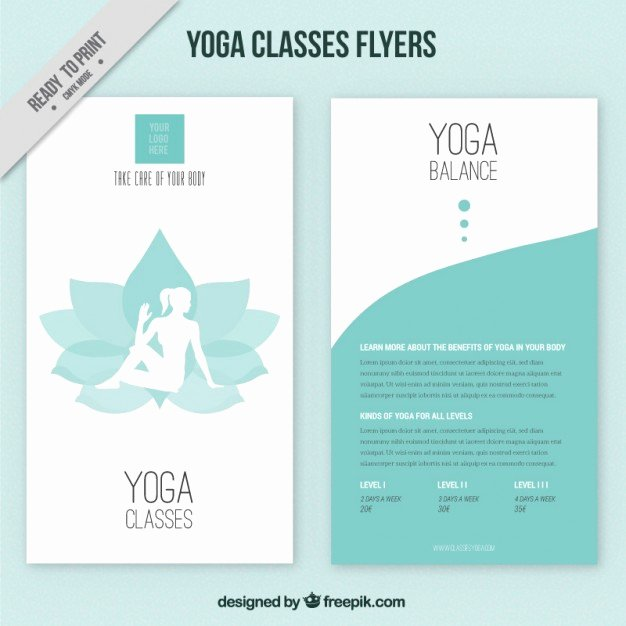 Flower with Woman Silhouette and Abstract Yoga Flyers