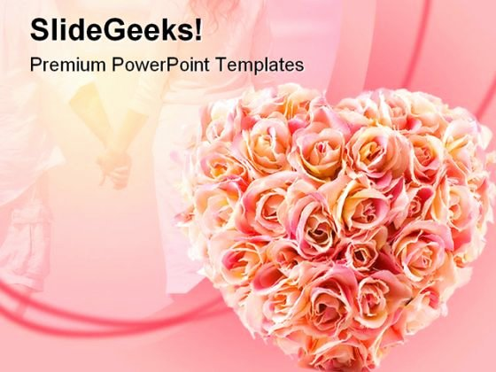 Flowers Wedding Powerpoint Template 0610