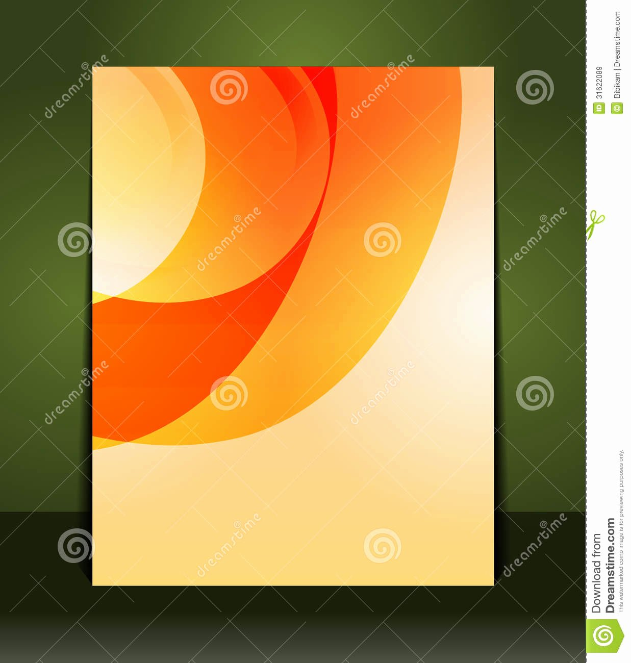 Flyer Design Content Background Stock Vector Image