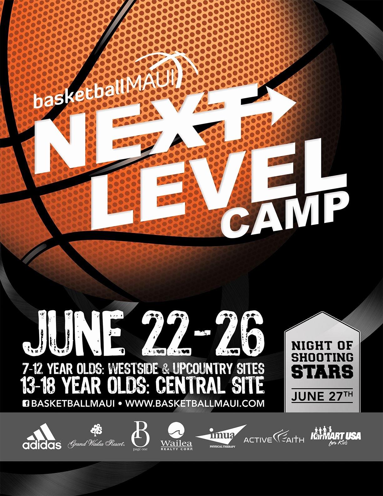 Flyer Design for Kids Basketball Camp Designed by