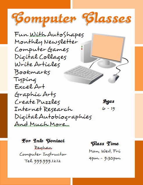 Flyer Design with Microsoft Word Beginner Tutorial for