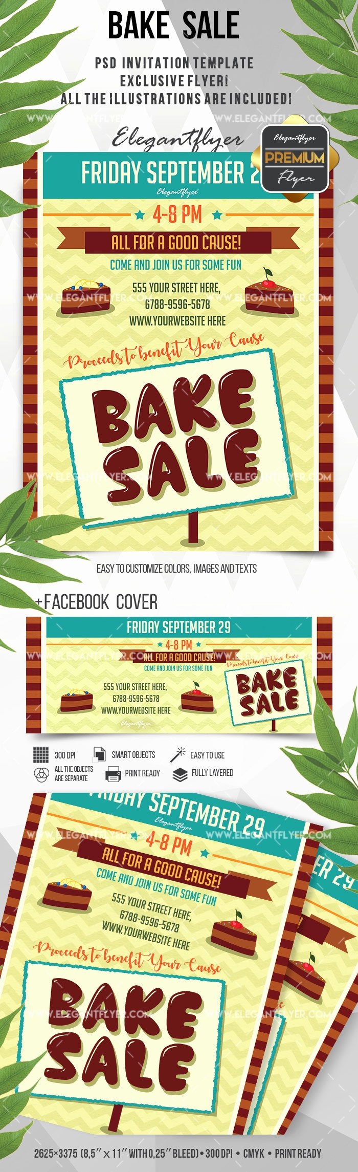 Flyer for Bake Sale Bakery – by Elegantflyer
