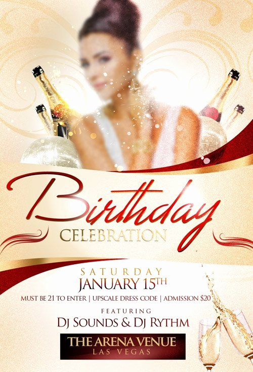 Flyer Template – Birthday Celebration Heroturko Download