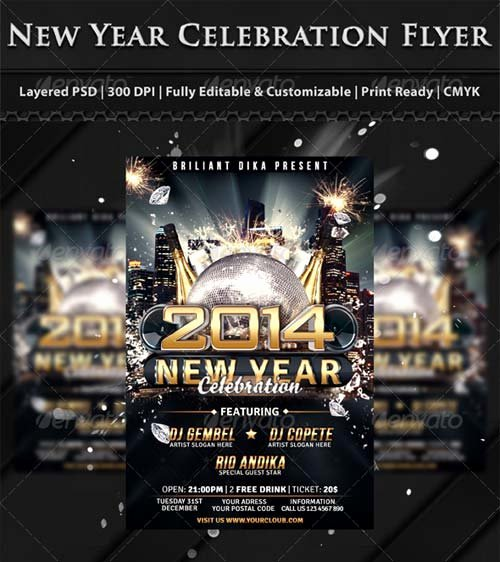 Flyer Templates Graphicriver New Year S Eve 2014 Party