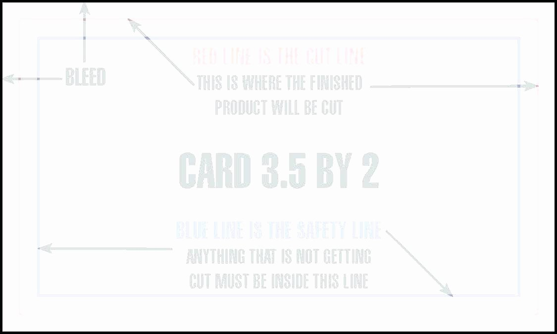 Fold Over Business Card Template A Blank Quarter Free