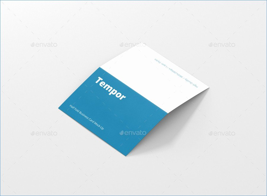 Fold Over Business Card Template Folded Business Cards
