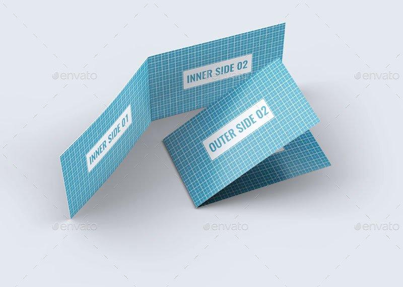 Mybook Pro Folded Business Card Template By Zeppelin Latter