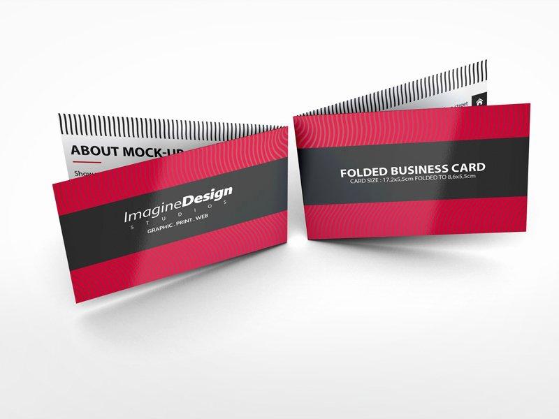 Folded Business Card Mockup V1 by Idesignstudio Dribbble