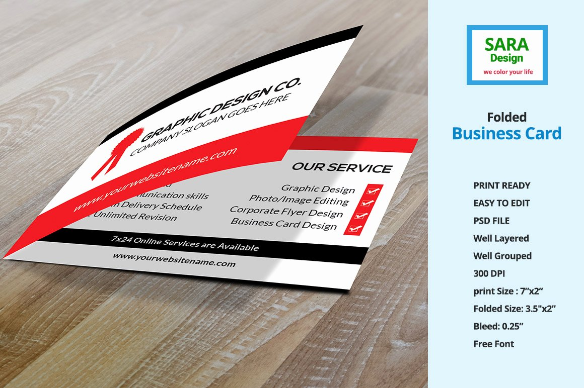 Folded Business Card Vol 1 Business Card Templates On